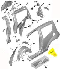 Arka Kapı Çıtası Sağ/Bant/kuşak