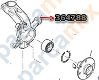 364788 ORJINAL Sağ Teker  Ön Aks Taşıyıcısı